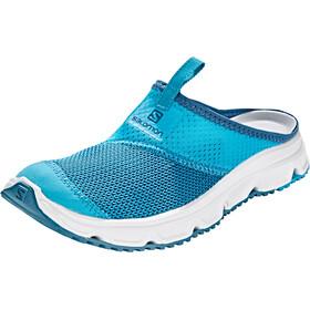 Salomon RX Slide 4.0 Zapatillas running Mujer, caneel bay/white/mallard blue
